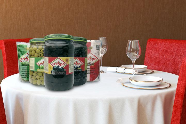 Olives Vertes Entières - Sachets ( 400 g ) pour Restauration