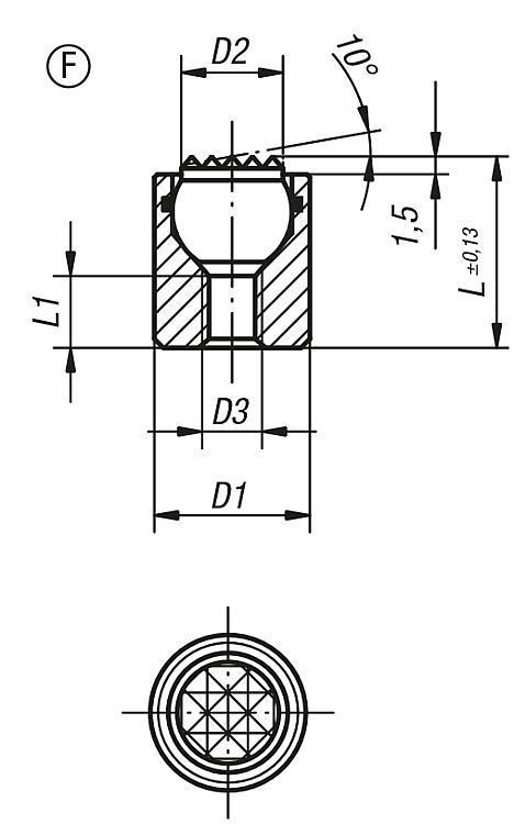 Podstawki wahliwe z pierścieniem uszczelniającym - K0284