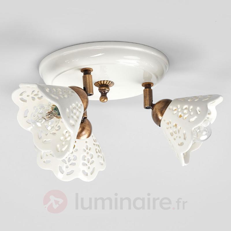 Plafonnier séduisant PORTICO à 3 lampes - Plafonniers rustiques