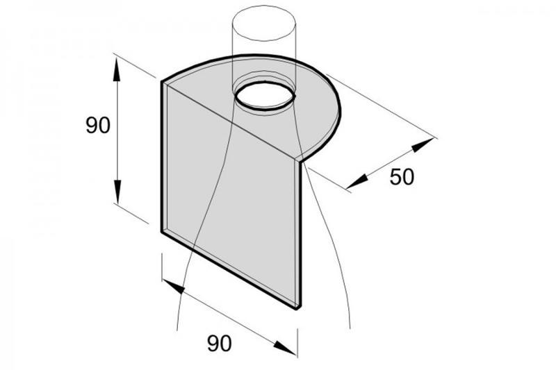 Flaschenhalsanhänger für 8cm CD-Stecktasche - 250my - Flaschenhalsverpackungen
