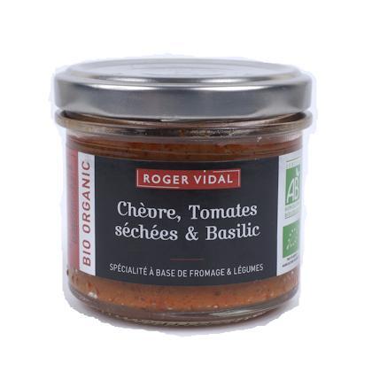 BIO - Chèvre Tomates séchées Basilic - 90g - Epicerie salée