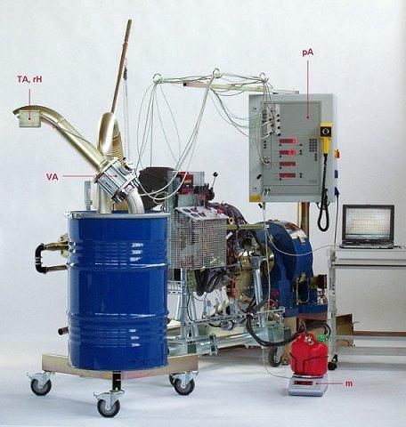Balance térmico - Puestos de prueba de motores con accesorios para el balance térmico.