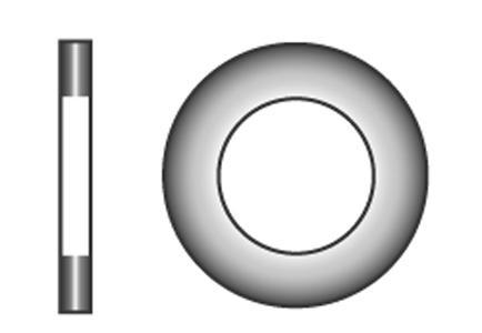 Flache Scheiben mit Fase, normale Reihe, 200 HV - Material A2   A4
