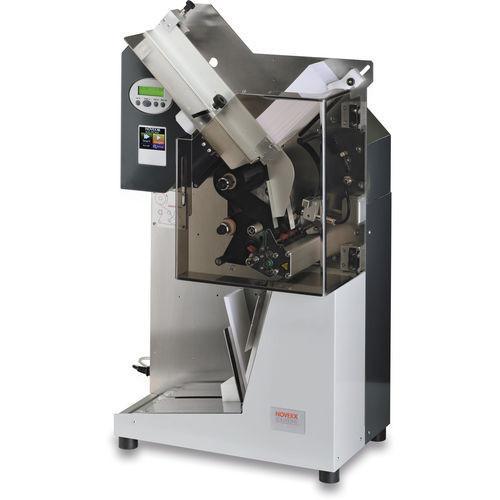 Single tag printer XTP 804 - thermal transfer printer / tickets /  cards / quality / ribbon save mechanism