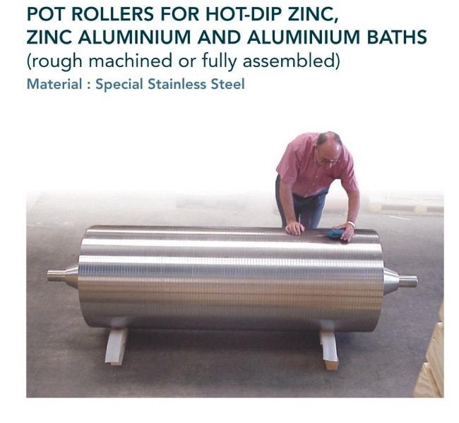 Rouleau de fond & rouleau stabilisateur - Sidérurgie - galvanisation à chaud