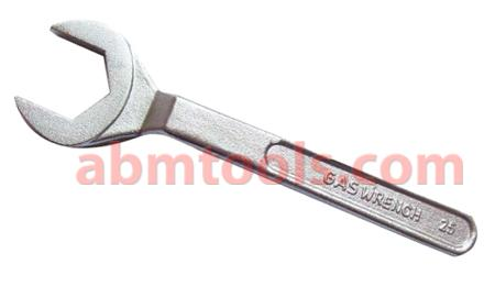 Gas Spanner - Italian Type - Heavy duty forged spanner for connecting regulators to gas bottles.