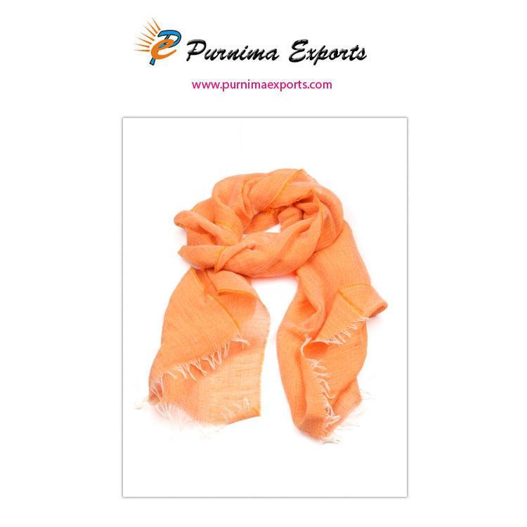 Foulard en lin orange  -