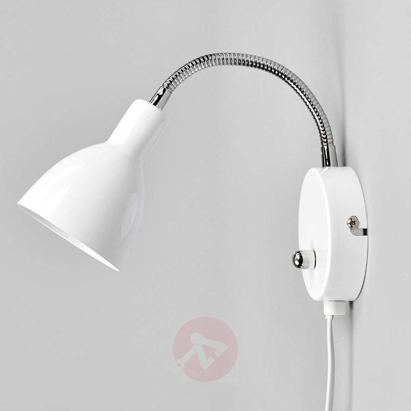 White Amrei metal wall light with dimmer - Wall Lights