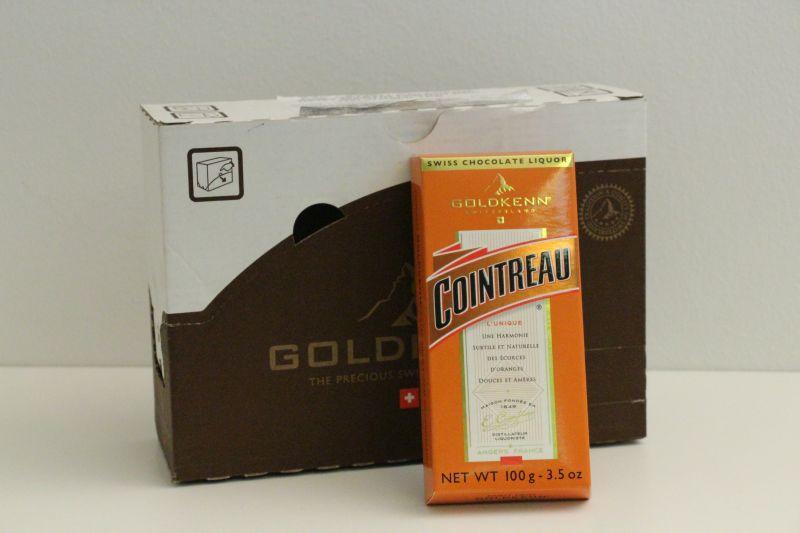 Goldkenn Swiss Milk Chocolate Filled With Cointreau