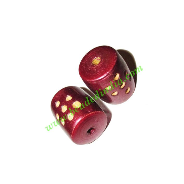 Wooden Carved Beads, size 15x18mm, weight approx 2.15 grams - Wooden Carved Beads, size 15x18mm, weight approx 2.15 grams