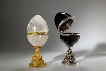 Pièces uniques en cristal taillées main