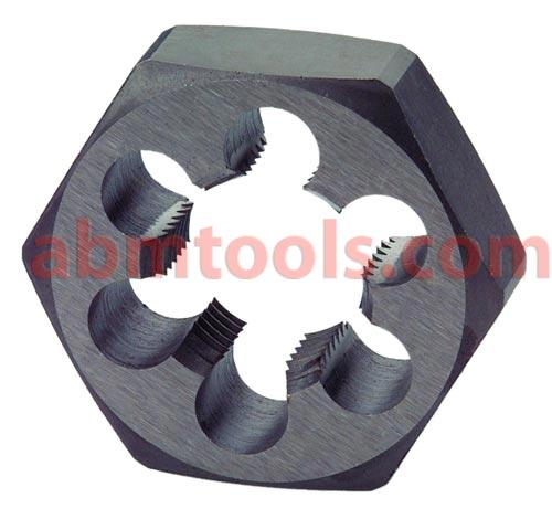 Round Dies & Hex Dies - Carbon Steel & HSS - Creates a male threaded piece which functions like a bolt.