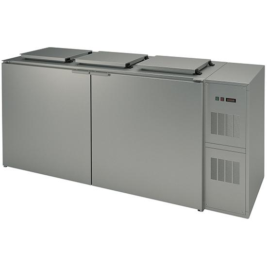 Refrigeration - refrigerated box for waste containers, 3x 240 litres, with c