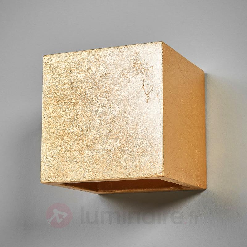 Applique cubique Yade, couleur dorée - Appliques en laiton/dorées