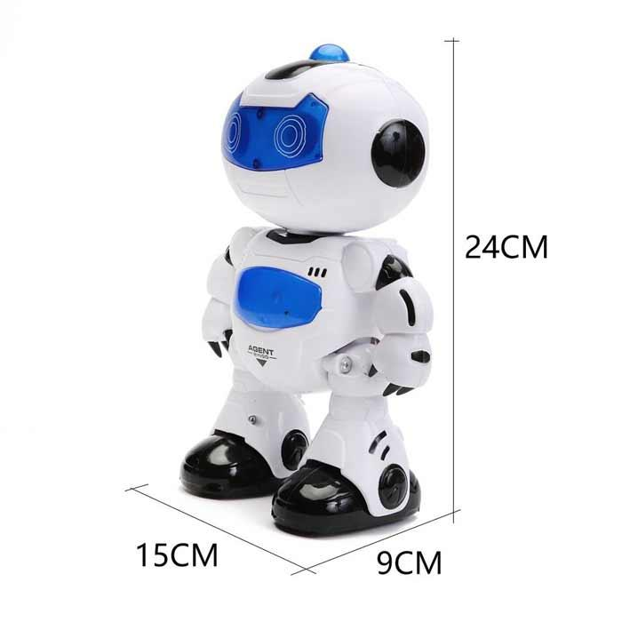 Electronic RC Robot Learning Toys by Hanmun - Toddler Intelligent Action Dancing Remote Control Robot Toys with Music Lights