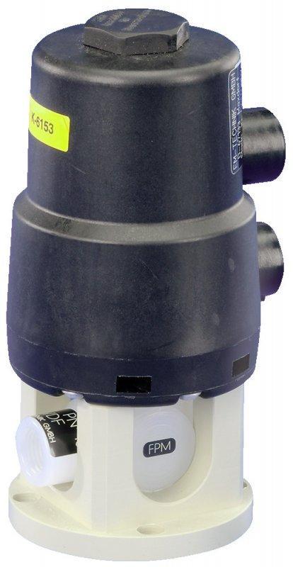 Vanne à boisseau avec actionneur pneumatique 6D - Vanne à boisseau avec actionneur pneumatique