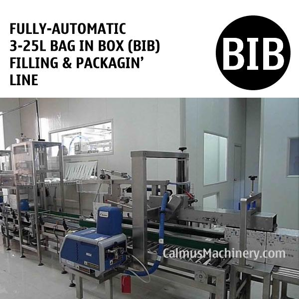 Fully-automatic Bag-in-Box (BIB) Filling and Packaging Line