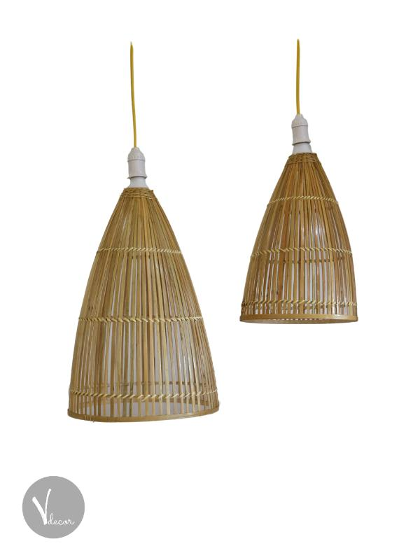Fishing Trap Shaped Bamboo Pendant Light - Shop