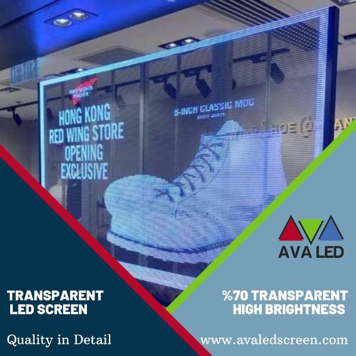 Läpinäkyvä led-paneeli - Läpinäkyvä AVA-ledinäyttö, jota käytetään verhojen rakentamiseen