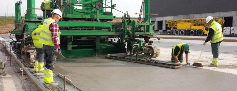 Construction routière en béton