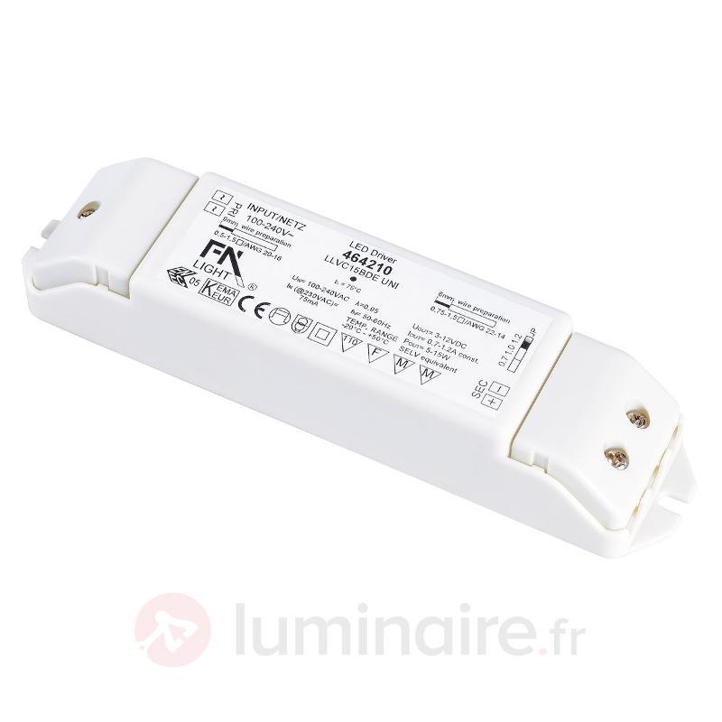 Convertisseur LED pour spots DOWNLIGHT 15 W - Transformateurs LED