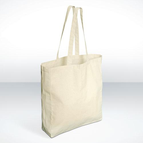 Natural 5oz Long handled cotton shopper bag