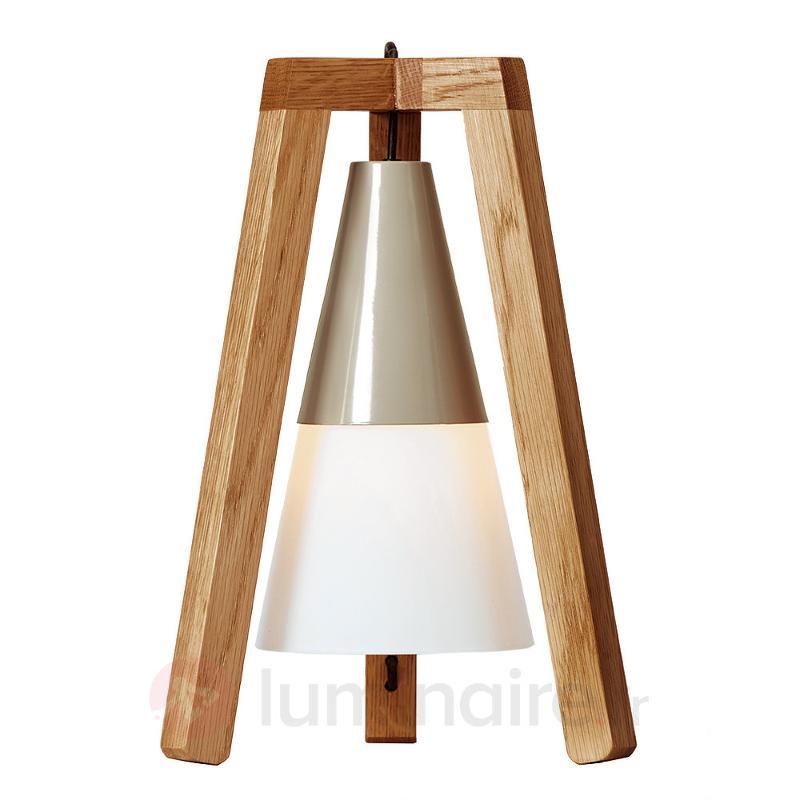Lampe à poser trépied Lucas en bois - Lampes à poser en bois