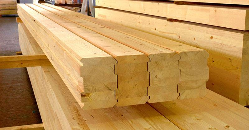 Prefabricated wooden houses - Wood houses from glued timber