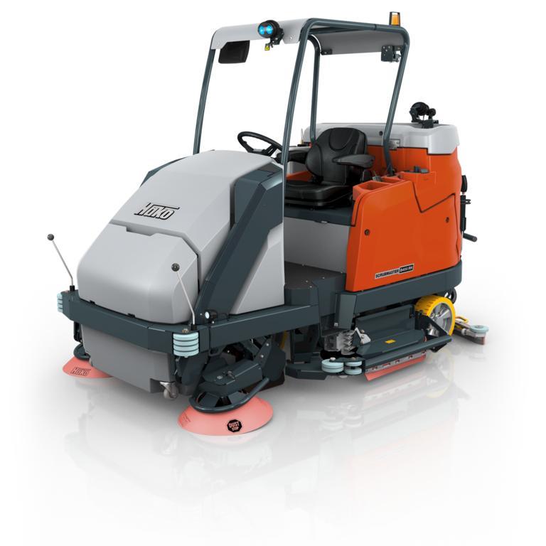 Scrubmaster B400 Rh - Vacuum sweeper and scrubber-drier combi machine with high dump