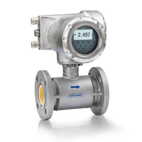 OPTIFLUX 7300 - Caudalímetro para agua / electromagnético / con revestimiento cerámico /en línea