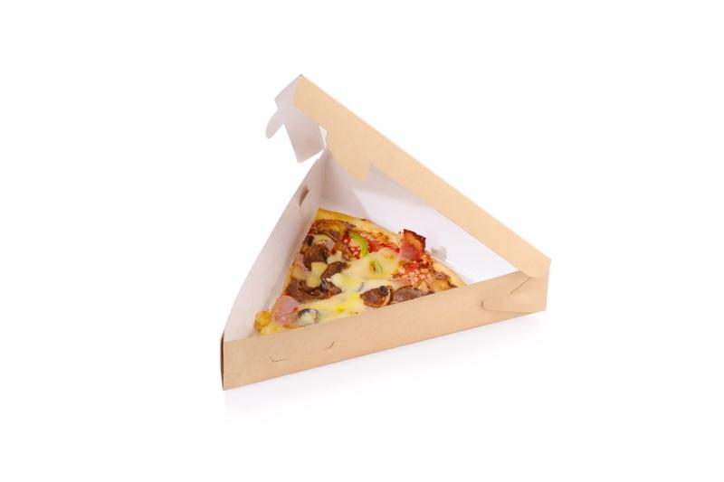 Pizza/Pie Box - Triangle kraft box for pizza or pie slice