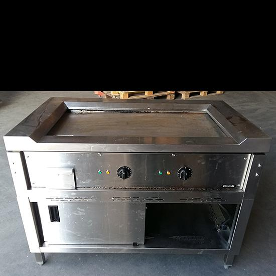 Add-on cooking appliances - electric teppanyaki on closed cabinet, 2 zones - SECOND-HAND