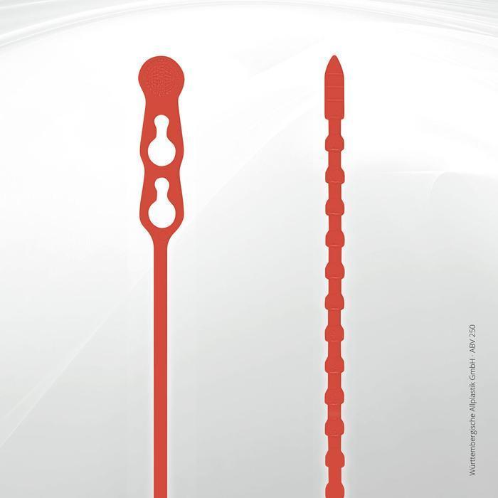 Allplastik-Blitzbinder® quick fastening cable ties - ABV® 250 (red)