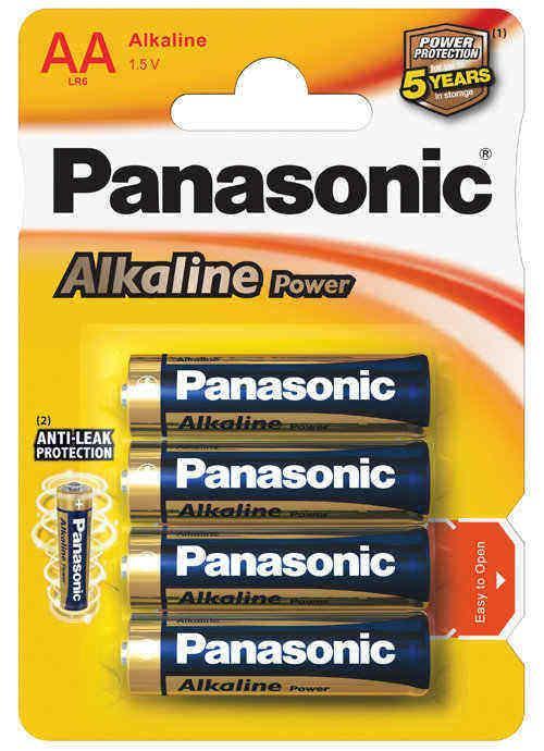 Batterie stilo Alcaline Power 4 pz - LR6APB/4BP | Blister da 4 pile AA Panasonic