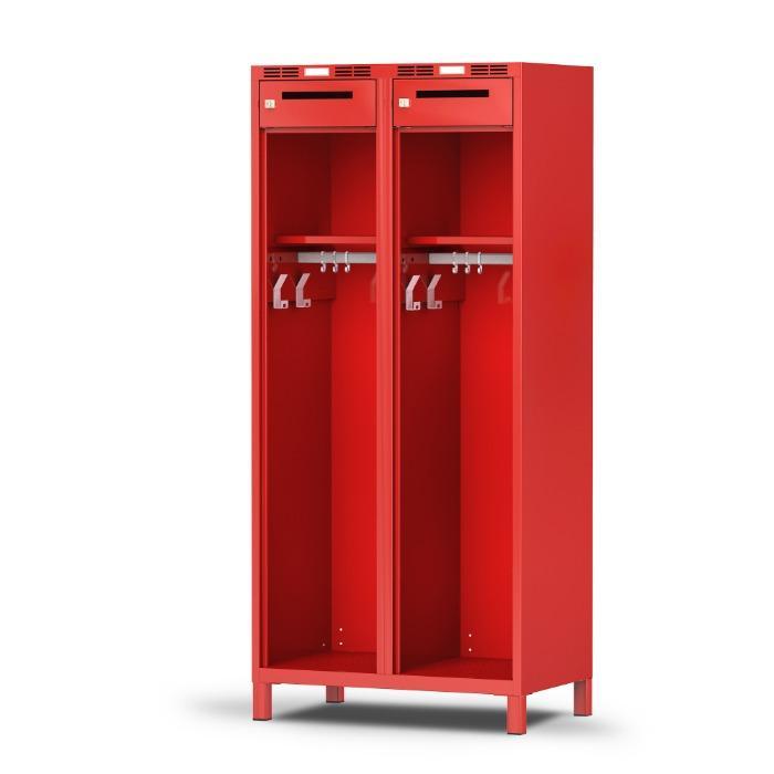 Vestiaire pompier COMFORT - pratique et confortable - avec 1, 2 ou 3 compartiments
