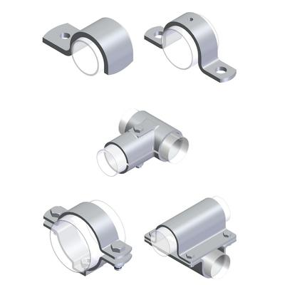 Fasteners for agricultural factories - Pipe clamps for agricultural factories
