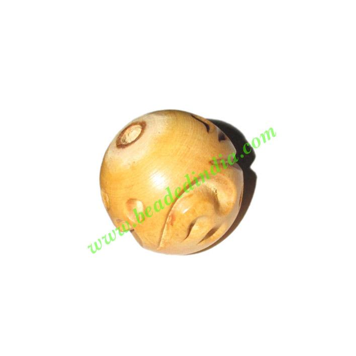 Natural Color Wooden Beads, size 25mm, weight approx 4.85 gr - Natural Color Wooden Beads, size 25mm, weight approx 4.85 grams