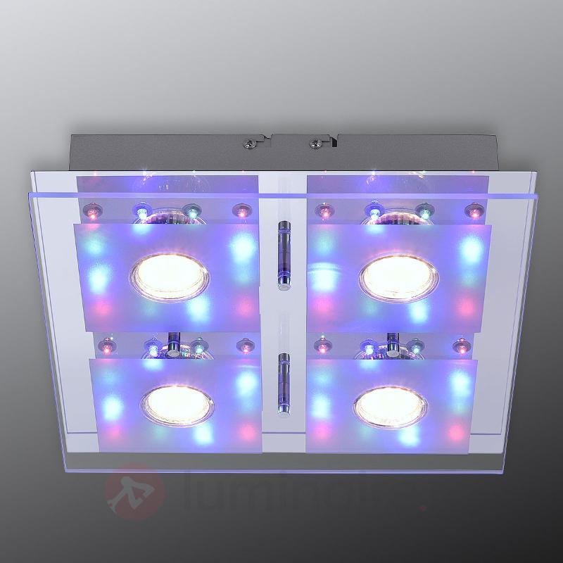 Plafonnier LED Stefan avec télécomm., 30 x 30 cm - Plafonniers LED