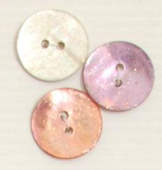 Bouton 2 trous (Nacre - Rose - 20 mm) - Boutons