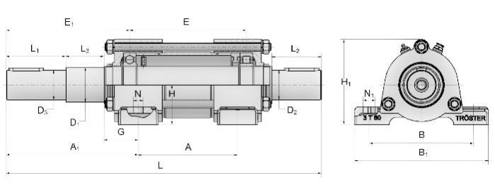 Block Bearing - 31/33 TL - 32/34 T