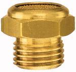 Sintered bronze silencer, flat, G 1 o., AF 36 - Silencer, sintered bronze, flat type with male thread (8 bar)