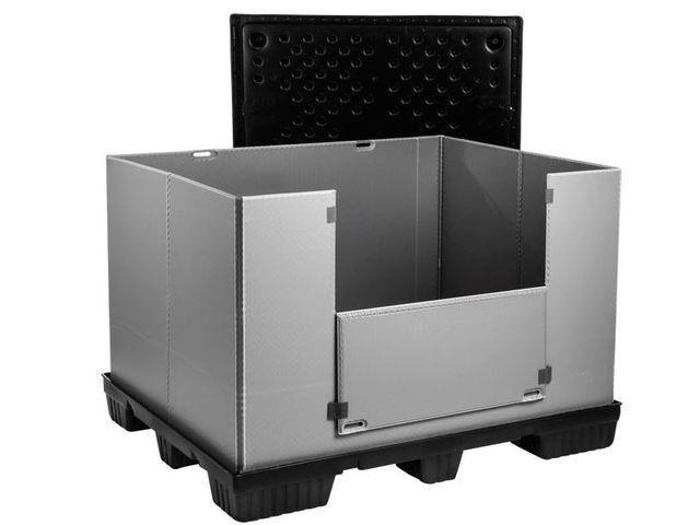 Large Folding Container: Mega-Pack 1500 - Large Folding Container: Mega-Pack 1500, 1500 x 1200 x 1000 mm