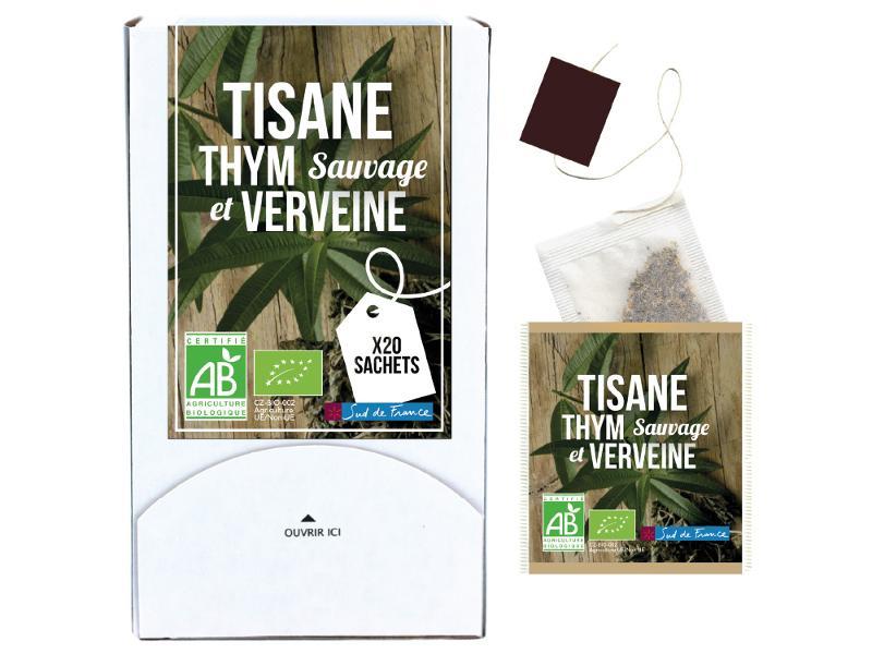 Tisane Thym sauvage des garrigues verveine - Boissons