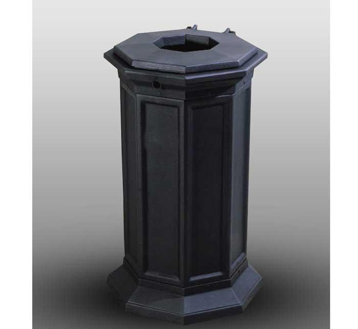 Outdoor litter bins