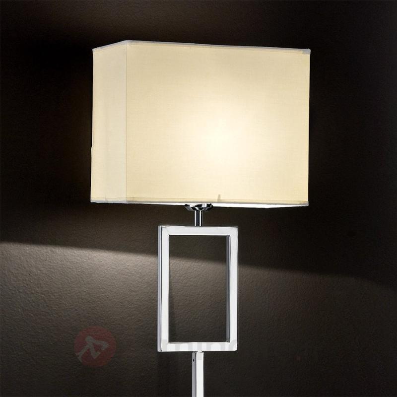 Magnifique lampadaire Renee abat-jour de tissu - Lampadaires en tissu