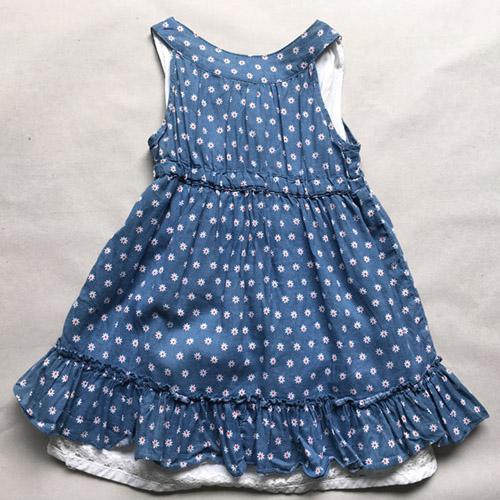 Vestido de niña - Vestido de dos piezas sin mangas para niñas