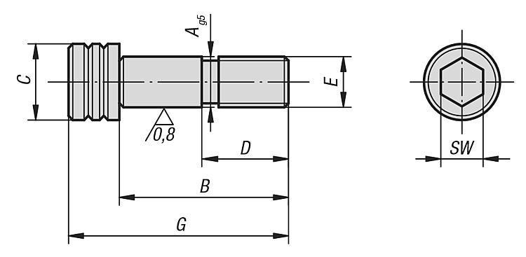 Vis CHC rectifiée forme B - Étau de bridage 5 axes