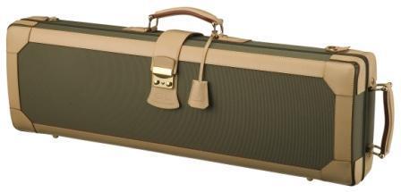 Leather violin case_K37(V) - Leather violin case/ Denim and leather exterior/ beige