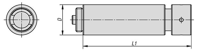 Broche rallonge - Etau de bridage 5 axes compact