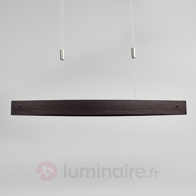 Suspension LED Malu en bois - ajustable en hauteur - Suspensions en bois